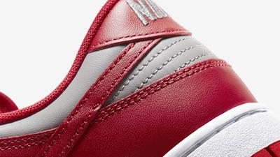 Nike Dunk Low UNLV University Red Closeup