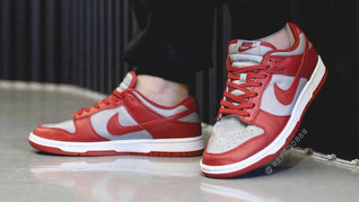 Nike Dunk Low UNLV University Red On Foot Front