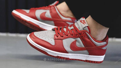 Nike Dunk Low UNLV University Red On Foot