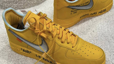 Off-White x Nike Air Force 1 University Gold First Look Top