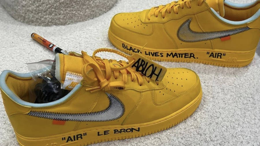 Off-White x Nike Air Force 1 University Gold First Look