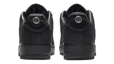 Stussy x Nike Air Force 1 Black Back