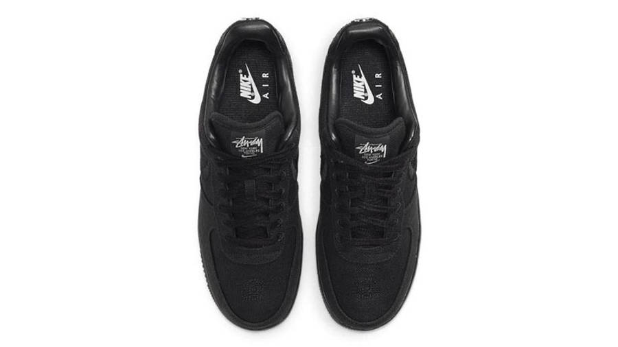 Stussy x Nike Air Force 1 Black Middle
