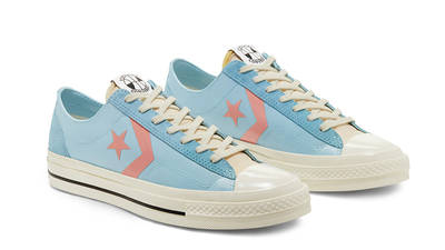 Converse Star Player Low Top OX Blue Peach 167768C front