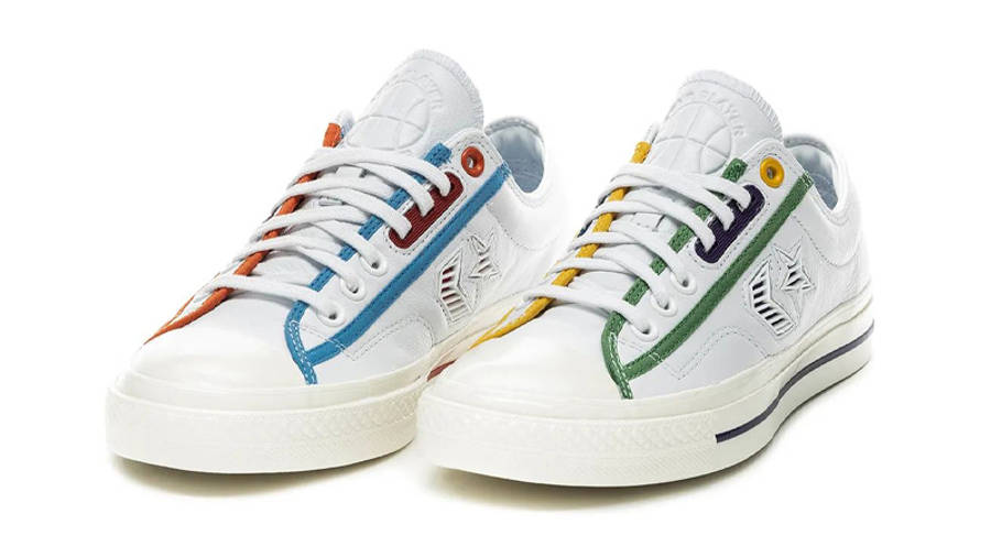 Converse Star Player Ox SP Logo Mash Up White Front