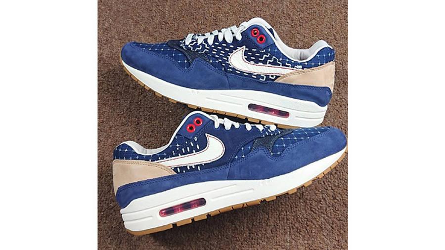 Denham x Nike Air Max 1 Blue CW7603-400 from top