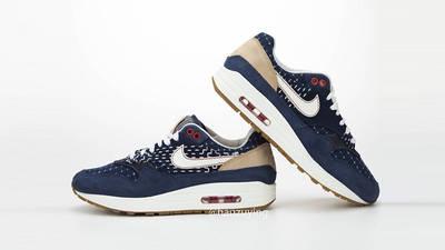 Denham x Nike Air Max 1 Blue CW7603-400 front