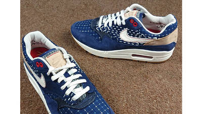 Denham x Nike Air Max 1 Blue CW7603-400 lifestyle