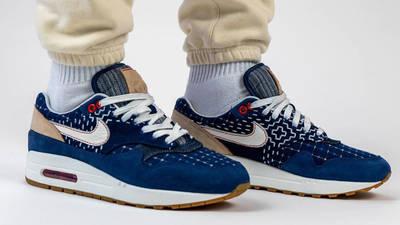 Denham x Nike Air Max 1 Blue On Foot