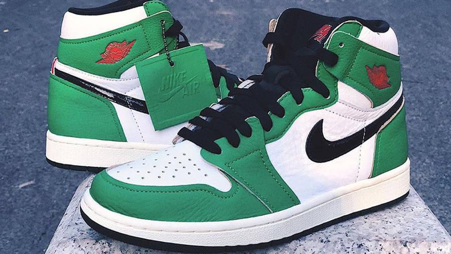 Jordan 1 Retro High OG Lucky Green Side