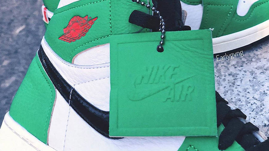 Jordan 1 Retro High OG Lucky Green Tag