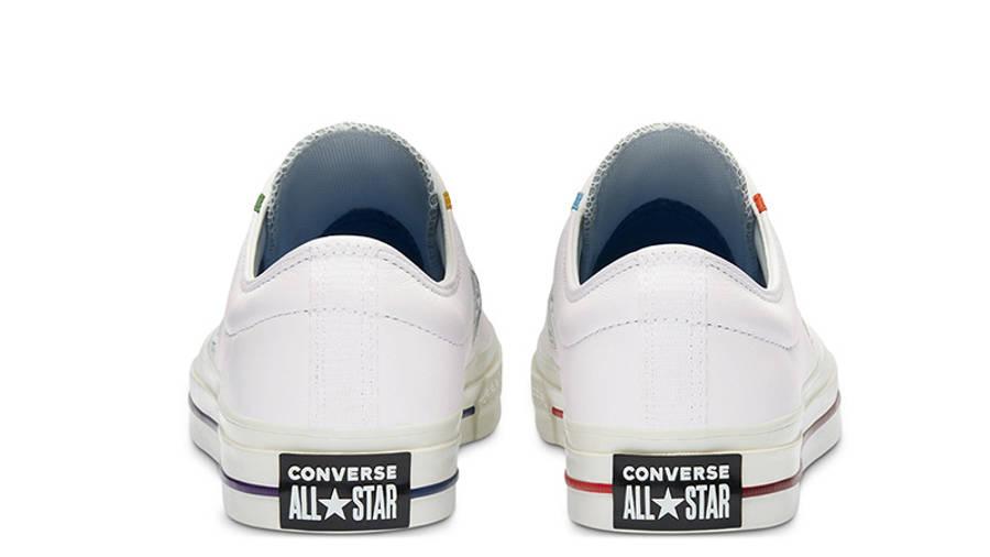 Logo Mash Up x Converse Star Player OX White Jet Stream 167141C back