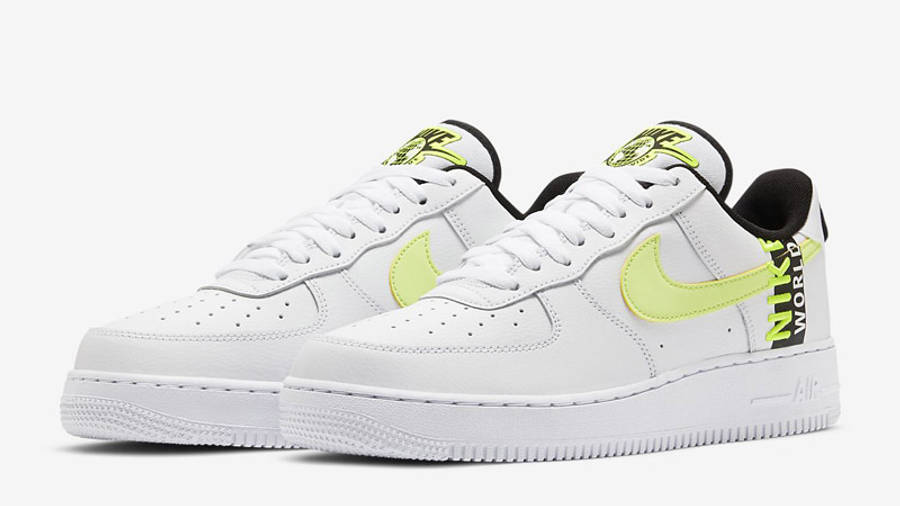 Nike Air Force 1 Worldwide White Volt | Where To Buy | CK6924-101 ...