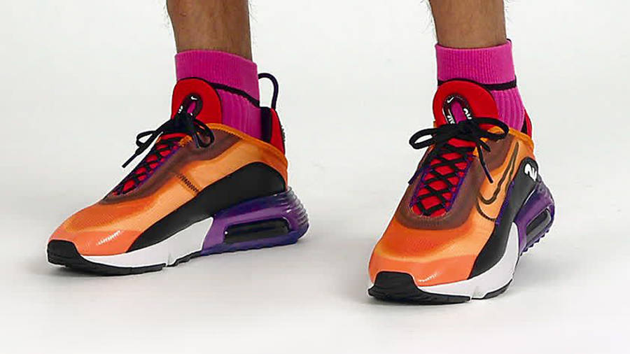 Nike Air Max 2090 Magma Orange On Foot