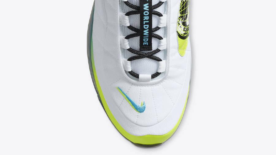 Nike MX-720-818 Worldwide White Blue Fury Closeup