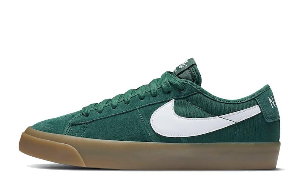 Nike SB Blazer Low GT Green Gum | Where