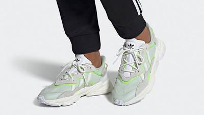 adidas Ozweego White Green EF4288 on foot