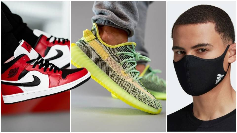 Adidas Face Masks Rare Jordan 1s Fast Selling Yeezys Feature In