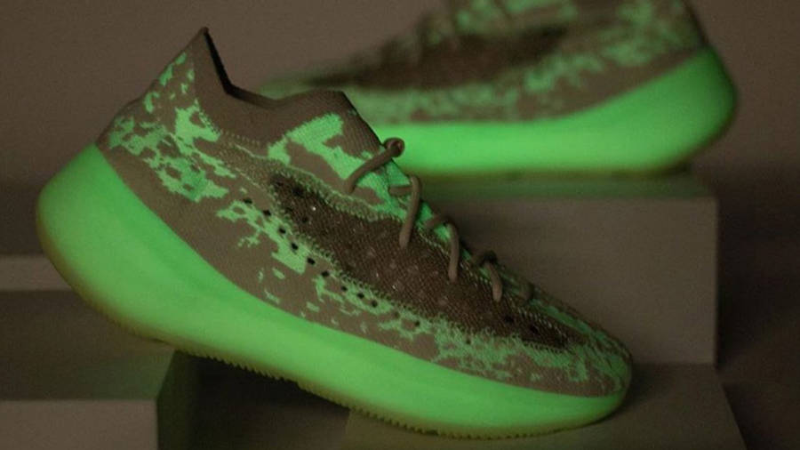 Yeezy Boost 380 Calcite Glow Lifestyle In Dark