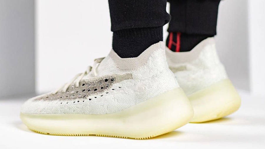 Yeezy Boost 380 Calcite Glow On Foot Back