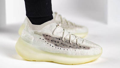Yeezy Boost 380 Calcite Glow On Foot Side