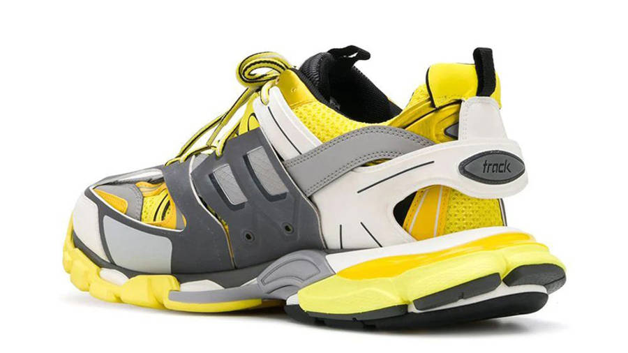 Balenciaga Track Yellow Grey Back