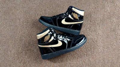 Jordan 1 High OG Patent Black Gold 555088-032 side