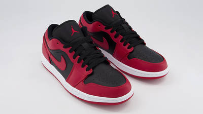 Jordan 1 Low Gym Red Black Front