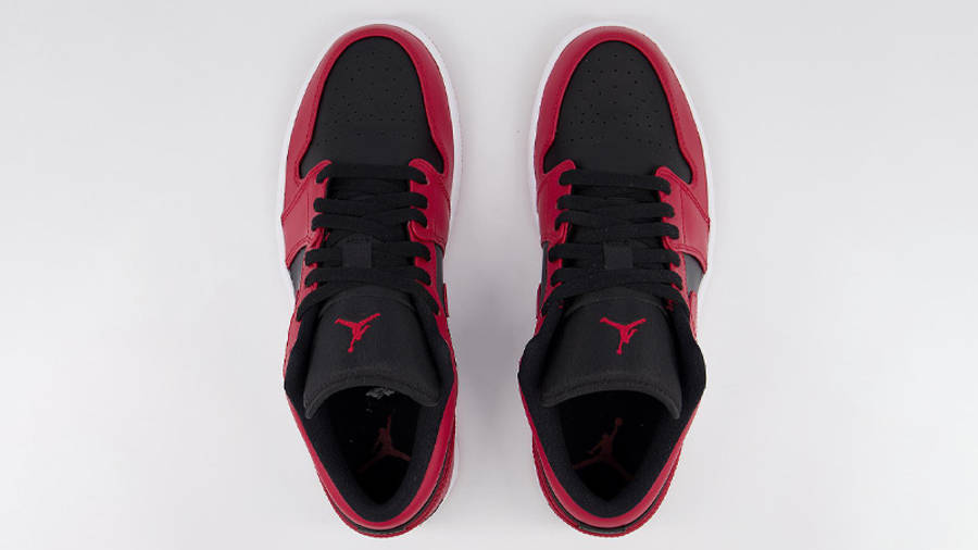 Jordan 1 Low Gym Red Black Middle