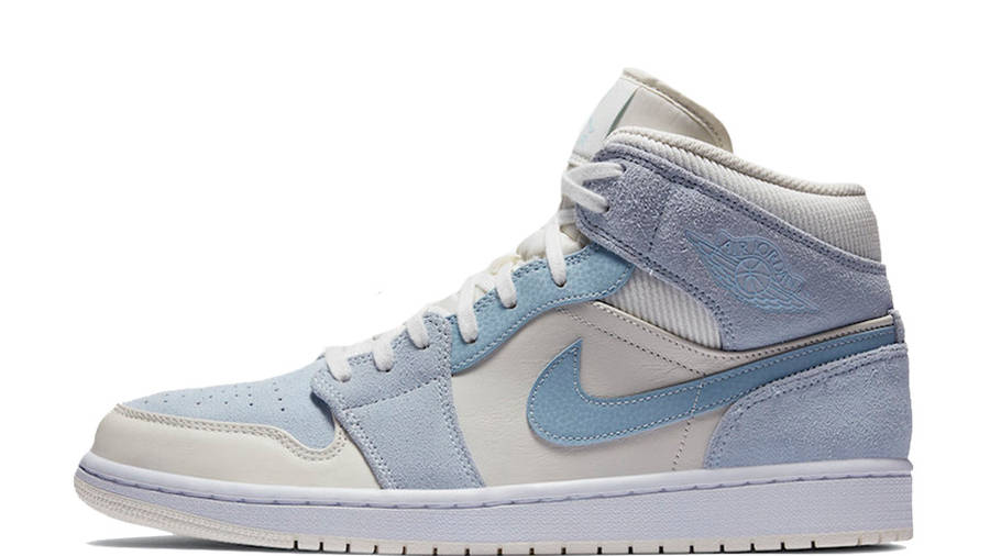 baby blue & white jordans cheap online