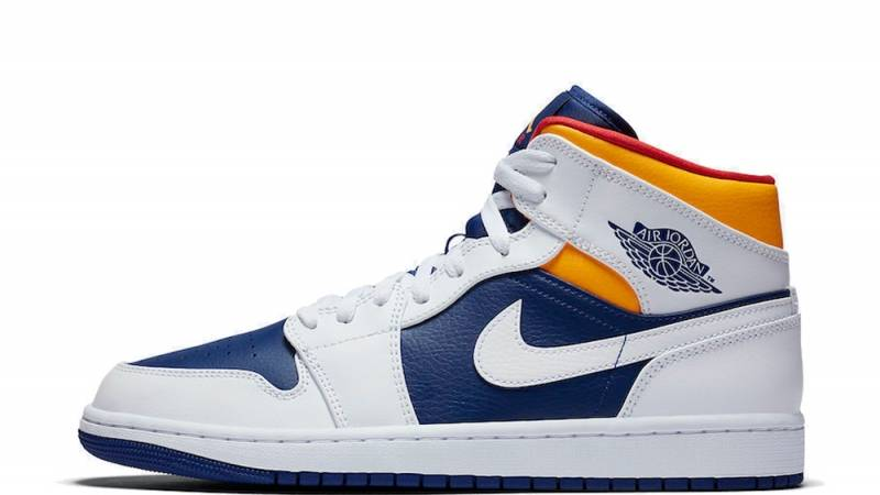 Jordan 1 Mid Royal Blue Laser Orange Where To Buy 554724 131 The Sole Supplier