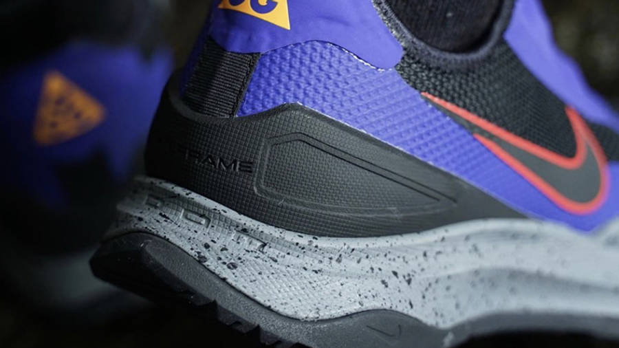 Nike ACG Air Zoom AO Fusion Violet On Foot Back