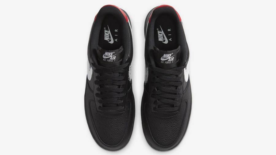 Nike Air Force 1 07 LV8 Brushstroke Swoosh Black   Where To Buy ...