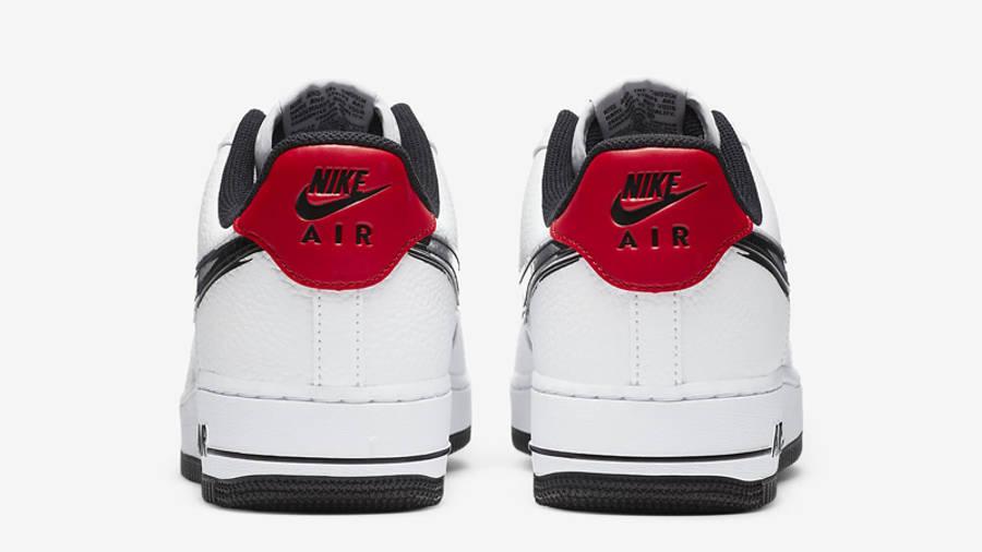 Nike Air Force 1 07 LV8 Brushstroke Swoosh White University Red ...