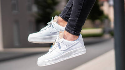Nike Air Force 1 07 LX White Onyx On Foot