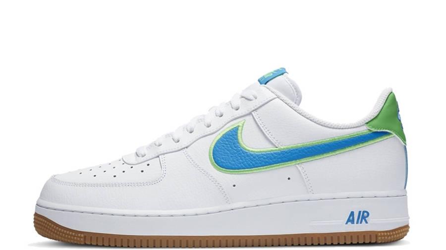 curso Resistencia cascada  Nike Air Force 1 07 White Blue Green | Where To Buy | DA4660-100 | The Sole  Supplier