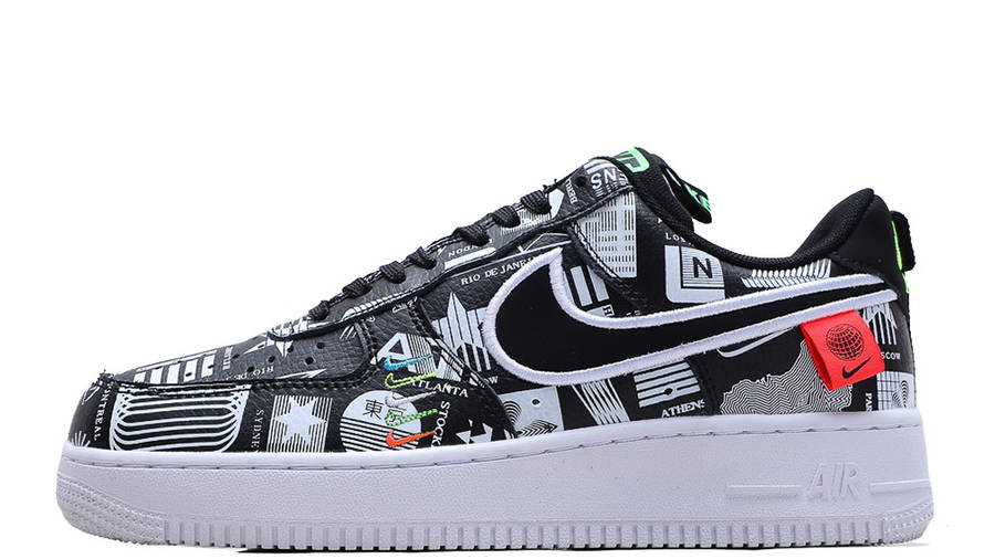Nike Air Force 1 Low Worldwide Black White | Where To Buy | CK7213 ...