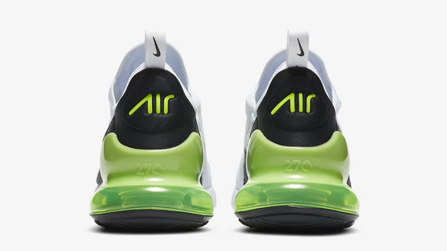Nike Air Max 270 White Black Volt Back