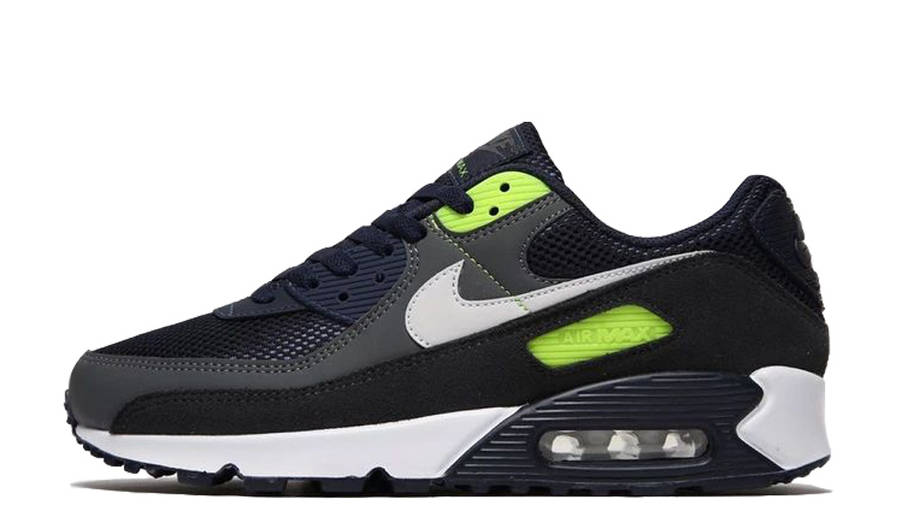 Nike Air Max 90 Obsidian Blue Volt | Where To Buy | undefined ...