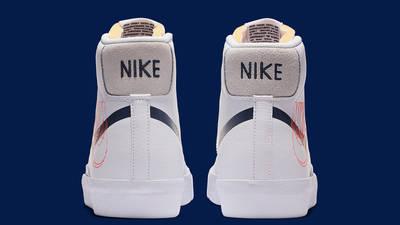 Nike Blazer Mid 77 Reverse Logo White Back