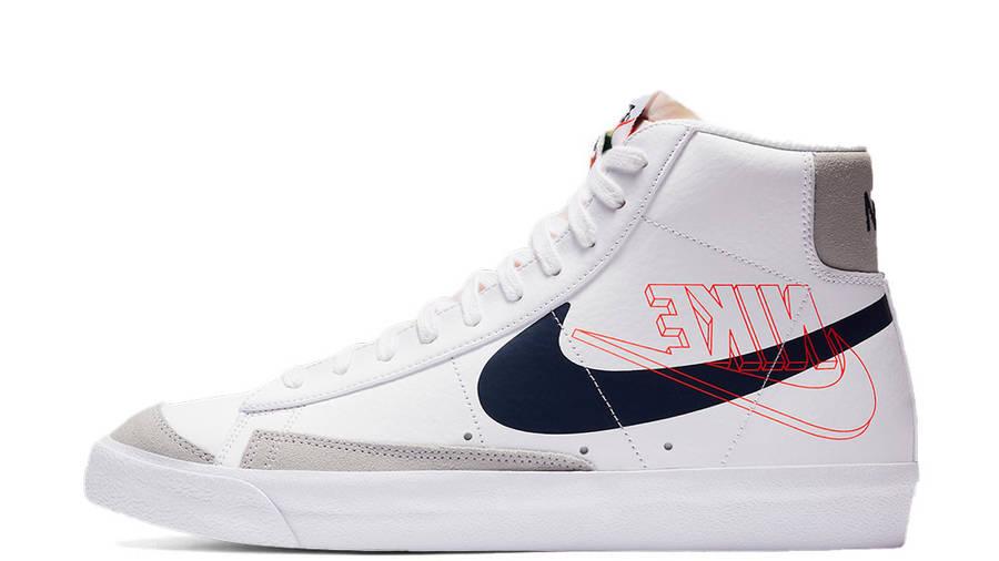 Nike Blazer Mid 77 Reverse Logo White