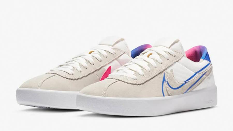 Nike SB Bruin React T White Pink Blast CV5980-100 front
