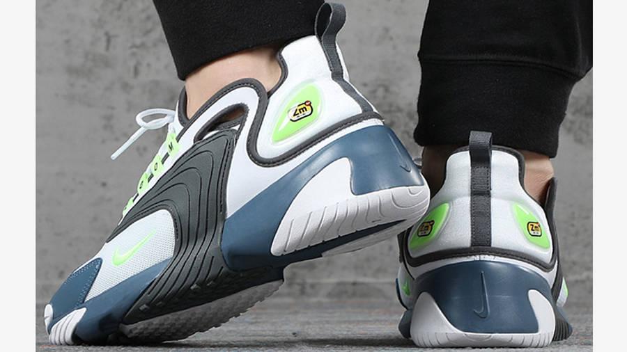 Nike Zoom 2K White Thunderstorm AO0269-108 on foot back
