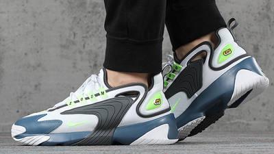 Nike Zoom 2K White Thunderstorm AO0269-108 on foot side