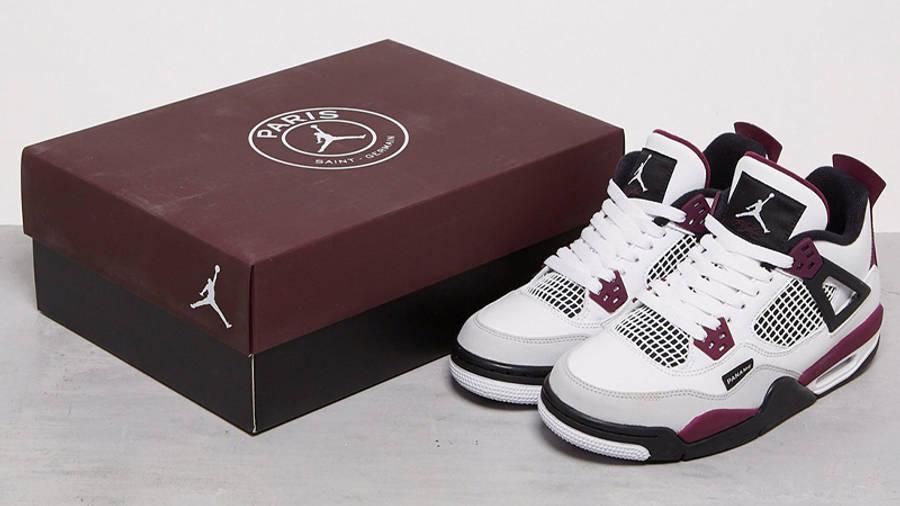PSG x Jordan 4 White Neutral Grey Bordeaux | Where To Buy | CZ5624 ...
