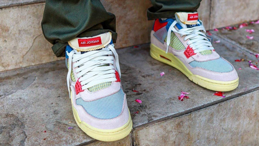 Union x Air Jordan 4 Guava Ice On Foot Front