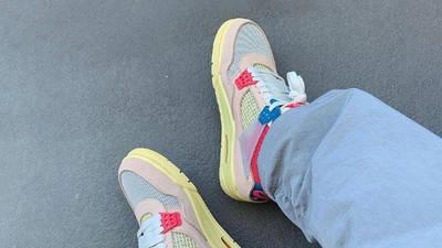 Union x Air Jordan 4 Guava Ice On Foot