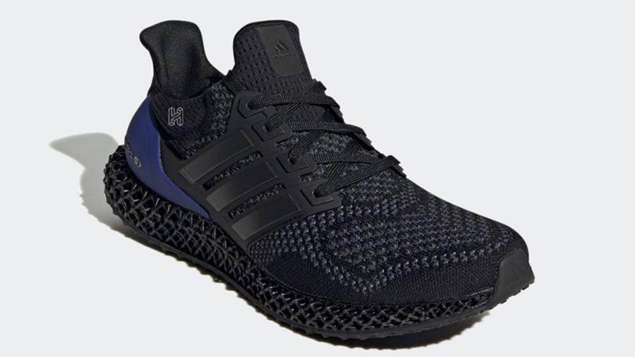 adidas Ultra 4D Black Purple Front