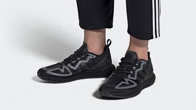 adidas ZX 2K 4D Triple Core Black FZ3561 on foot
