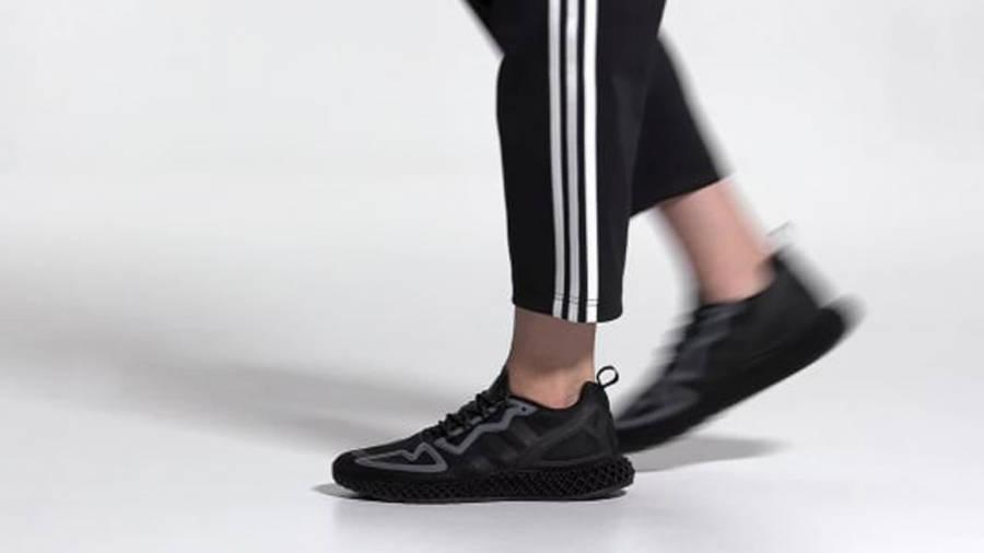 adidas ZX 2K 4D Triple Core Black On Foot